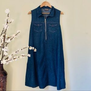 Dresses - Sleeveless Denim Midi Dress Size 2X